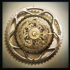 bicycle gear wall clock bike gear clock by