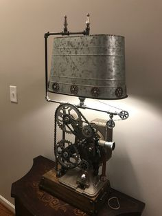 Home Decoration Shops Near Me Industrial Home Design, Industrial Style Lighting, Cool Lighting, Diy Crafts Lights, Light Crafts, Light Art, Lamp Light, Blue Mason Jars, Steampunk Lamp