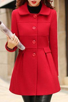 Fashionable Turn-Down Collar Faux Fur Embellishedm Long Sleeves Coat For Women