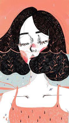 Ideas For Hair Short Girl Drawing Illustration Art Inspo, Inspiration Art, Art And Illustration, Illustrations, Pretty Art, Cute Art, Drawing Sketches, Art Drawings, Drawing Art