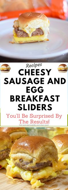 Cheesy Sausage and Egg Breakfast Sliders!!!! Need to know! !