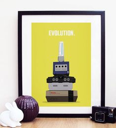 Nintendo Evolution  Next Generation Gaming Poster by ohdearmolly, $11.50