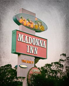 Fine art photography print featuring the Madonna Inn, a popular tourist destination located along Californias Central Coast. Opened in 1958, the inn is famous for its lavish decor and themed guest rooms.   TITLE: MADONNA INN LOCATION: San Luis Obispo, California SIZES: 5x7, 8x10, 11x14, or 16x20 ORIENTATION: Vertical MATTING: Available (See details below) FRAME: Not included   ➤ Save 30% when you purchase 3 or more prints: http://etsy.me/1HLRBFB  ➤ BROWSE MORE prints from my sh...