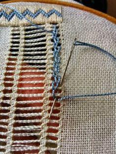 Drawn Thread Work and White Wo Hardanger Embroidery, Hand Embroidery Stitches, Embroidery Techniques, Embroidery Applique, Cross Stitch Embroidery, Embroidery Patterns, Lace Patterns, Cross Stitches, Drawn Thread