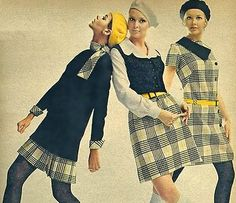 berets, scarves, yellow belts and plaid
