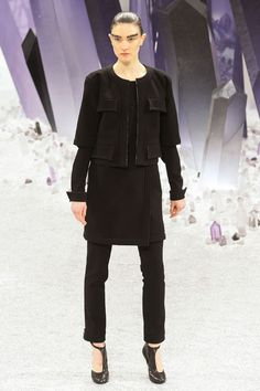 Chanel - love the skirt/pant combo. I tried this in the 80s! Shoes, also awesome.