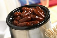 How to Make Little Smokies in a Crockpot: Cocktail Wieners or Little Smokies with Grape Jelly Barbecue Sauce
