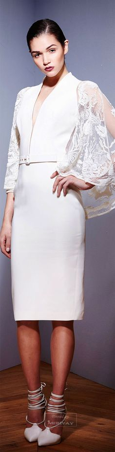 Zuhair Murad.Fall 2015. Elegant.  Classy.  And the cut of the lace sleeves. ...