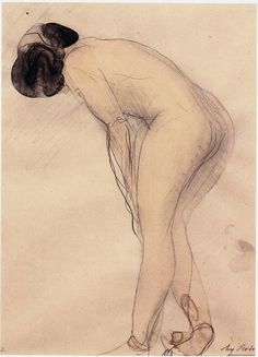 auguste rodin, drawing the female nude