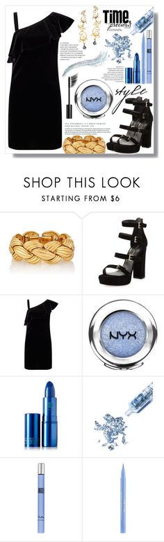 """""""Untitled #300"""" by miralmxdx ❤ liked on Polyvore featuring Stuart Weitzman, Miss Selfridge, Chanel, NYX, Lipstick Queen, Glitter Injections, Thierry Mugler, Stila and Eina Ahluwalia"""