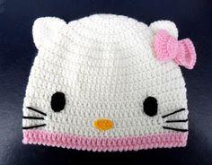 Gorro Crochet Hello Kitty