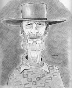 Cowboy Portrait drawing by Darren Hester | Doodle Addicts