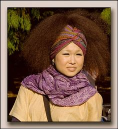 An afro hair day in Tokyo. Yes, they rock afros in Japan too!
