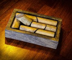Wood Dowel Puzzle