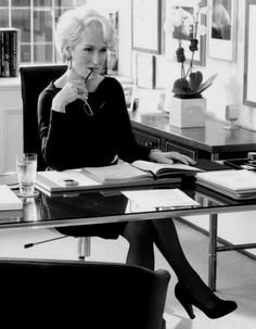 """Meryl Streep.  """"Integrate what you believe in every single area of your life.  Take your heart to work and ask the most and the best of everybody else, too."""""""