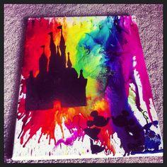 Diy Disney melting crayon art