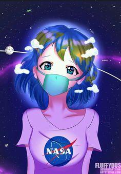 Earth-chan creditos al autor