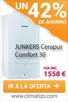 Oferta de caldera de condensación JUNKERS Cerapur Comfort 30 por 1558 € IVA incluido. Precio mínimo garantizado.