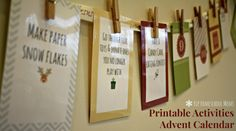 diy advent calendar free printable