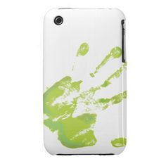 Hand Print - Green - 2 Case-Mate iPhone 3G/3GS Barely There Case  #anatomy #hand #inkblot #iPhone