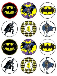 Edible cupcake toppers  Super Hero characters cake by Eyecandey, $9.50