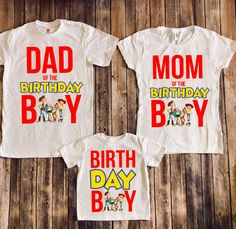 Toys story birthday board ideas for 2019 For 1 Year Old New Toy Story, Toy Story Party, Toy Story Birthday, Birthday Party Outfits, Boy Birthday Parties, Birthday Shirts, 4th Birthday, Birthday Ideas, Toy Story Shirt