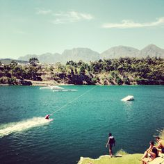 Wakeboard in Somerset West - Blue Rock Cable Waterski The Cable Resort is the perfect place to host your birthday or bachelors! Somerset West, Blues Rock, Meeting New People, Water Sports, Cape Town, Have Fun, Surfing, Swimming, River