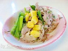 「牛コマとかき菜のマーガリン炒め」ある物でサッと炒めて作る簡単副菜です。あっさりマーガリン味がコクを引き立ててくれます(^0^)牛コマも野菜と一緒なのでしつこくありませんね。【楽天レシピ】