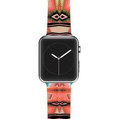 "Nina May ""Deztecca Salmon"" Orange Teal Apple Watch Strap"