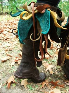 Knee High Owl Forrest Boot by TreadLightGear on Etsy, $675.00