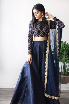 Buy New Latest Women (लहंगा) Lehenga Choli Designs 2020 Outfit Designer, Indian Designer Outfits, Designer Dresses, Indian Fashion Designers, Lehenga Choli Designs, Salwar Designs, Lehenga Designs Latest, Indian Lehenga, Blue Lehenga