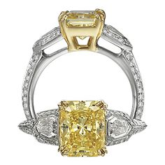 white and yellow gold engagement ring | How To Save Big on Yellow Diamond Engagement Rings