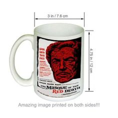 Amazon.com: The Masque of the Red Death Vincent Price Movie COFFEE MUG