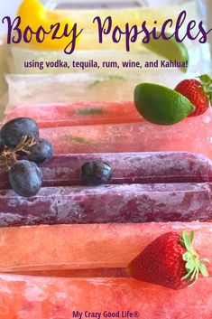 These boozy popsicles are going to be your new favorites! Alcoholic popsicles like Kahlua popsicles, Bloody Mary Ice Pops, and Margarita Popsicles are delicious and refreshing for happy hour! Wine Popsicles, Alcoholic Popsicles, Alcoholic Desserts, Alcoholic Shots, Fun Cocktails, Fun Drinks, Yummy Drinks, Cocktail Recipes, Beverages