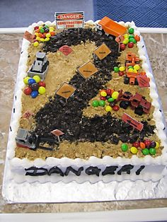 2nd Birthday-construction cake