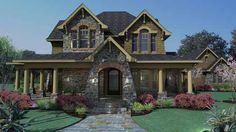 Country Style House Plans - 2552 Square Foot Home , 2 Story, 4 Bedroom and 2 Bath, 2 Garage Stalls by Monster House Plans - Plan 61-106