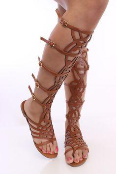 Gladiator design sandals