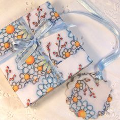 Winter Ice Gift Box with Matching Tag by UnderTheNumNumTree, $7.50