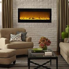 fullview modern s landscape fine full gas flames inch electric fireplace view details fireplaces