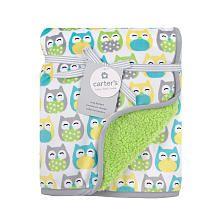 Carter's Valboa Blanket Grey Owl Print
