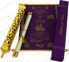 27 best scroll wedding invitations royal scroll wedding cards