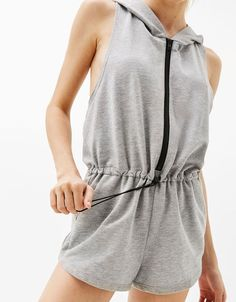 3e0b4955e7d3 Sporty jumpsuit with zips and pockets - Bershka  sporty  jumpsuit  zips   pockets