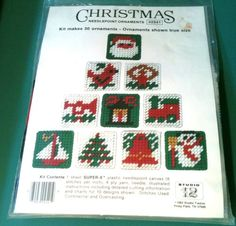 Studio 12 Christmas Ornaments Needlepoint Plastic Canvas Kit Set of 30 Santa | eBay
