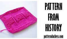 Pattern from history Garter Blocks knitting pattern from 1961 Knitting Blogs, Knitting Stitches, Knitting Projects, Knitting Patterns, Knitted Hats, Crochet Hats, Garter, Stitch Patterns, Swatch