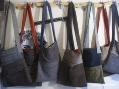 Pocket bags ( refashioned from suits and blazers)