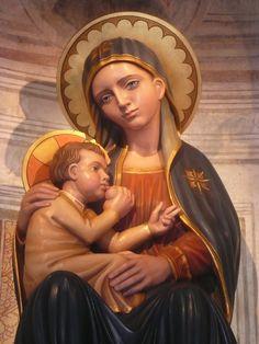 #Monteortone Santuario della Madonna della Salute. Statua lignea, 2012