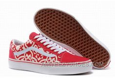 334a91ac32454a Vans Old Skool Floral Red White Womens Shoes Christmas Deals EzbxFr