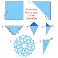 How to Make a Paper Snowflake Gather your classmates, co-workers and community family and host a paper snowflake craft event with this simple paper snowflake instructional template. Paper Snowflake Template, Paper Snowflake Patterns, Snowflake Craft, Paper Snowflakes, Christmas Snowflakes, Christmas Paper, Snowflake Origami, Origami Templates, Box Templates