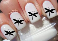 Dragonfly nail decals, very pretty, bright stickers with unique designs.