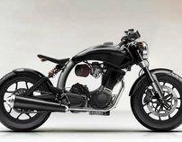 Retro mod motorcycle